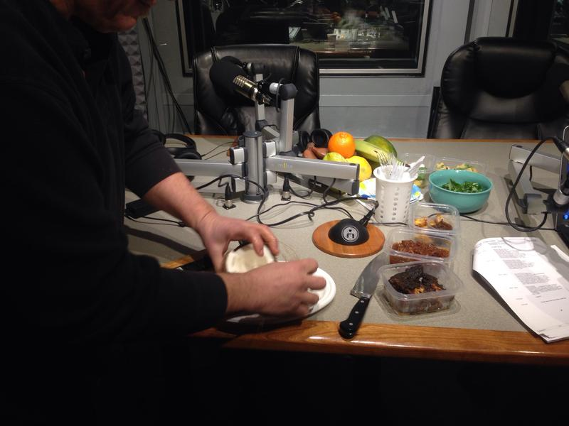 Chef Ric Orlando splits a coconut