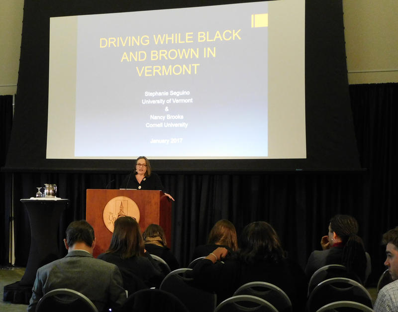 Professor Stephanie Seguino presents racial bias report