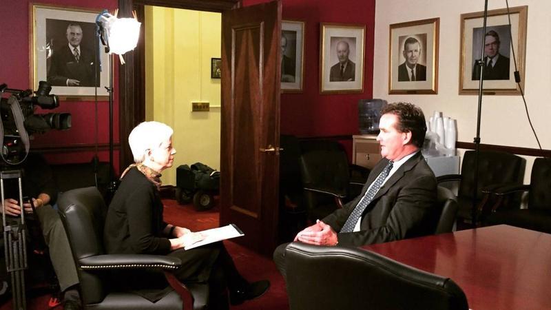Karen DeWitt and NY State Senator John Flanagan