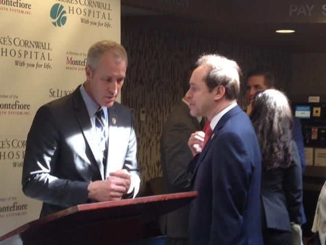 Congressman Sean Patrick Maloney and Dr. Howard Zucker