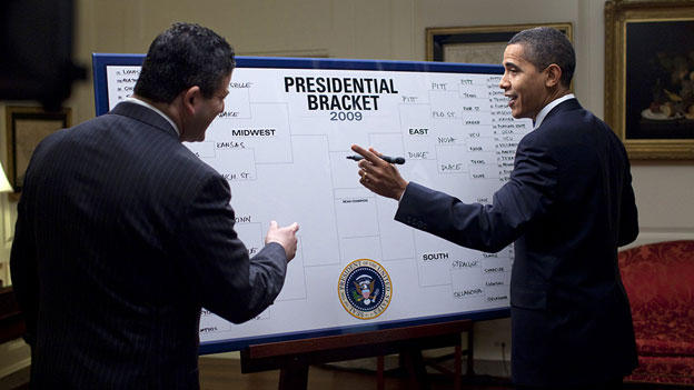 Obama fills out NCAA bracket.