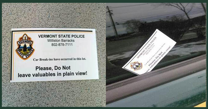 Break-in cards