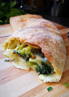 Broccoli and Spinach Stromboli