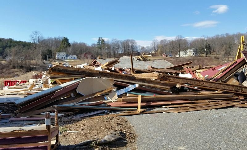 A 300-year-old barn used by an antique dealer was destroyed by the weekend tornado in Conway, MA