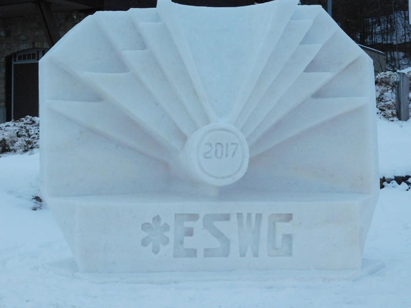Empire State Winter Games snow sculpture