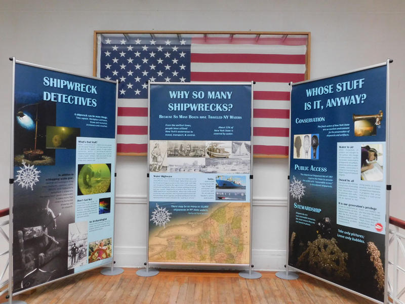 Part of Shipwrecks of New York display at Plattsburgh City Hall