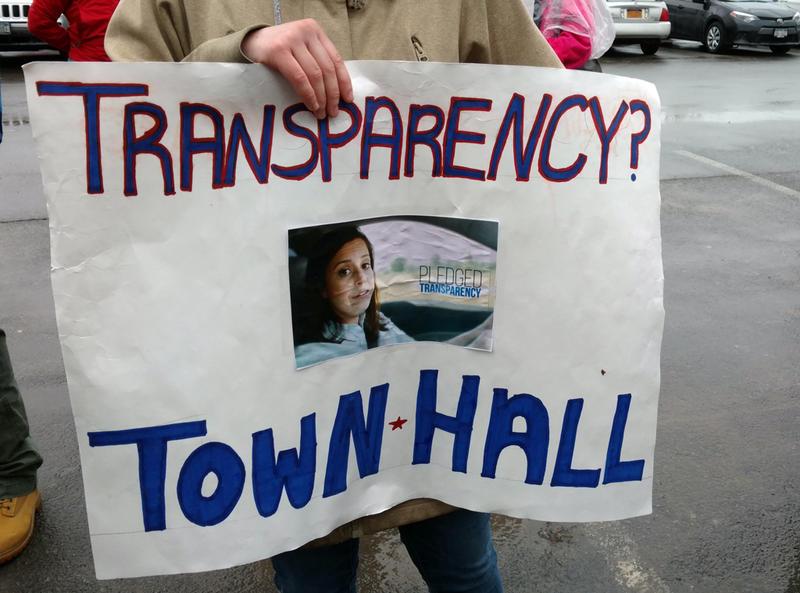 Stefanik demonstrator's sign