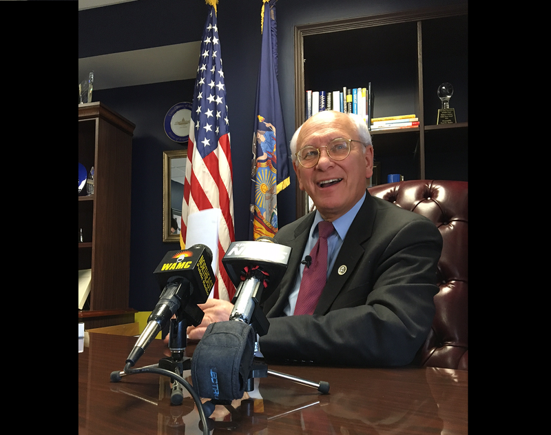 Congressman Paul Tonko met with reporters at his Albany office Sunday morning, March 19, 2017.