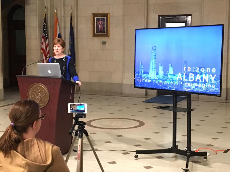 Albany Mayor Kathy Sheehan invites citizens to check out rezonealbany.com to get a better handle on the plan.