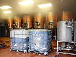 Copper Brewing Vats inside Cropton Brewery