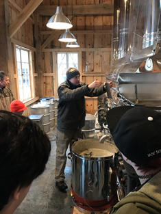 Ben Madey at his maple sugar house in Ghent, NY