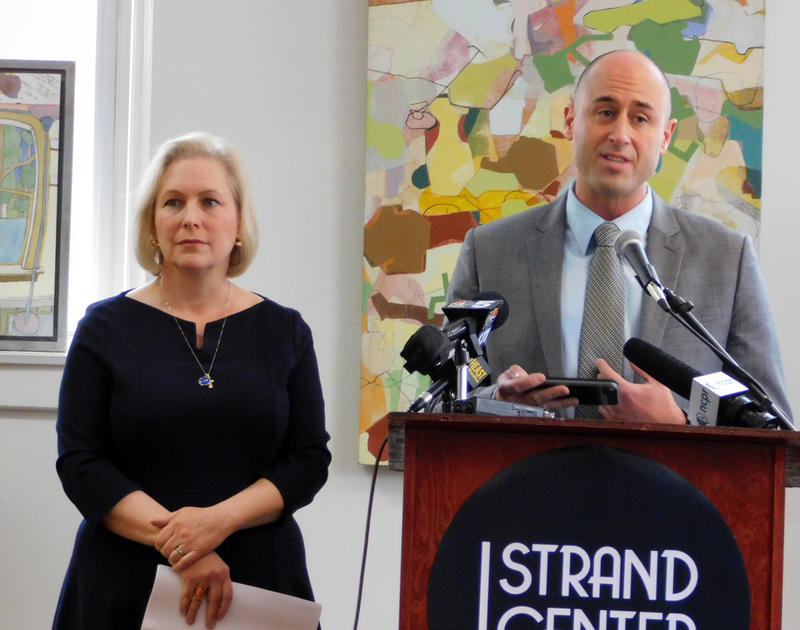 Senator Kirsten Gillibrand with Strand Center for the Arts Executive Director Joshua Kretser