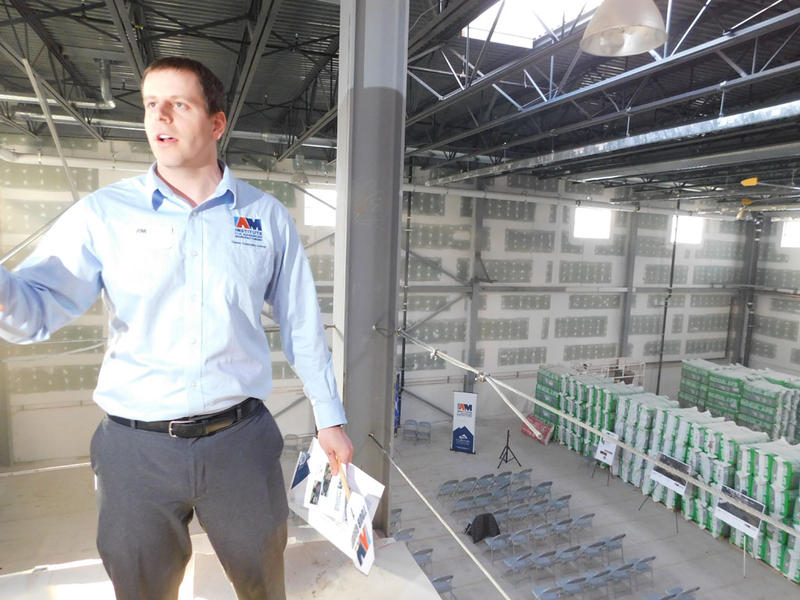 Kristopher Renadette gives tour of Institute of Advanced Manufacturing construction