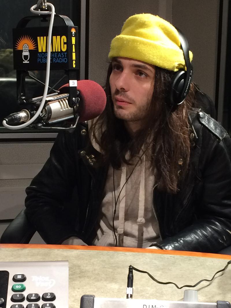 Miles Joris-Peyrafitte in WAMC's studio March 3, 2017.