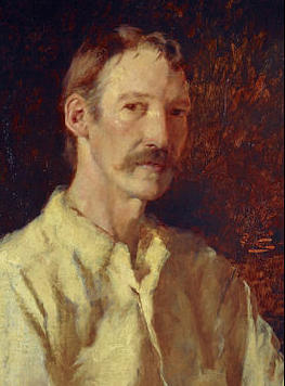 Robert Louis Stevenson in a work by Count Girolamo Nerli