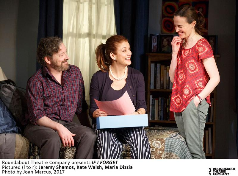 Jeremy Shamos, Kate Walsh and Maria Dizzia in RTC's 'If I Forget' at The Laura Pels Theatre