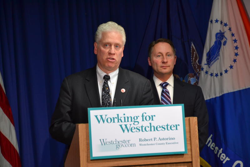 Westchester BOL Chairman Michael Kaplowitz and County Executive Rob Astorino