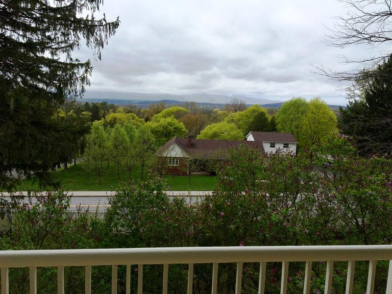 View of the Catskills from the front porch of the Main House.