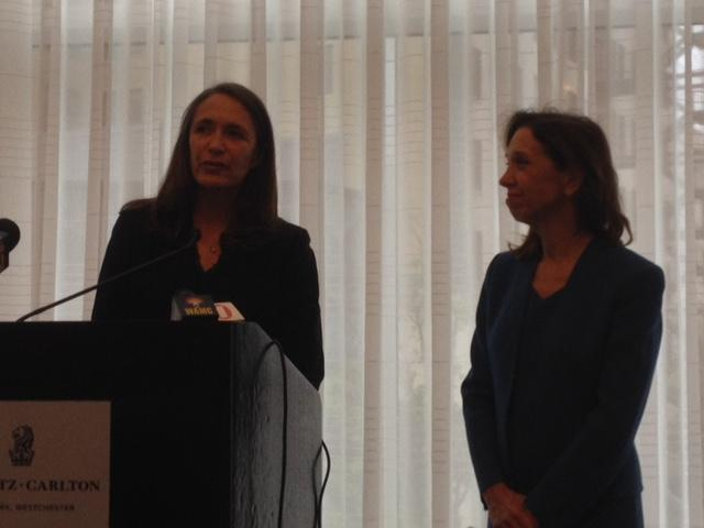 Anneke Lucas with Assemblymember Amy Paulin
