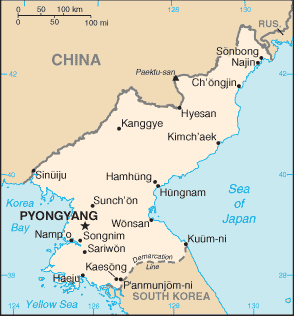 Map of North Korea