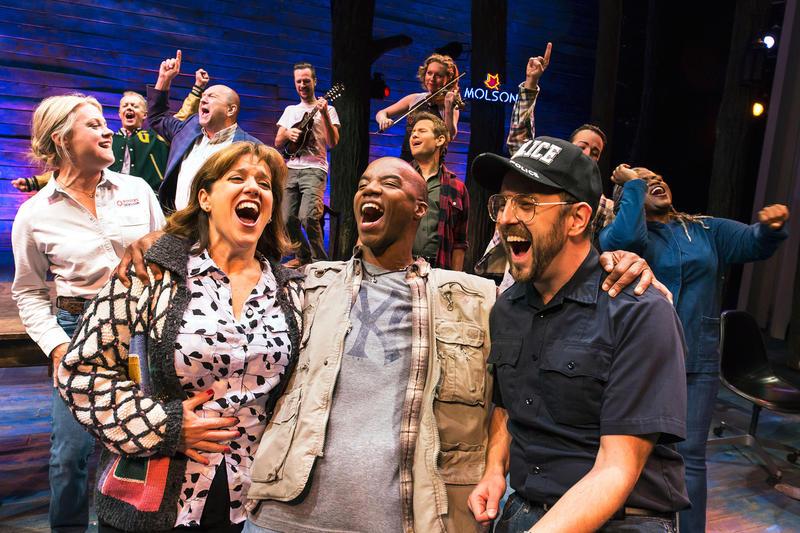 Sharon Wheatley, Rodney Hicks, Geno Carr and Come From Away cast