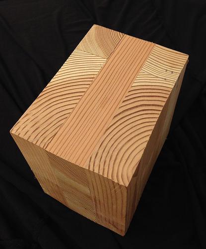 a cross laminated timber block
