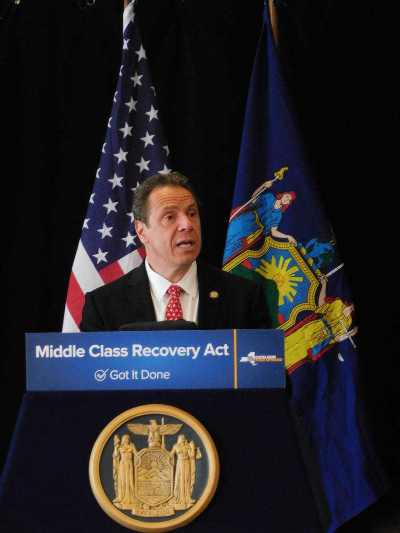 Governor Andrew Cuomo discusses budget in Lake Placid