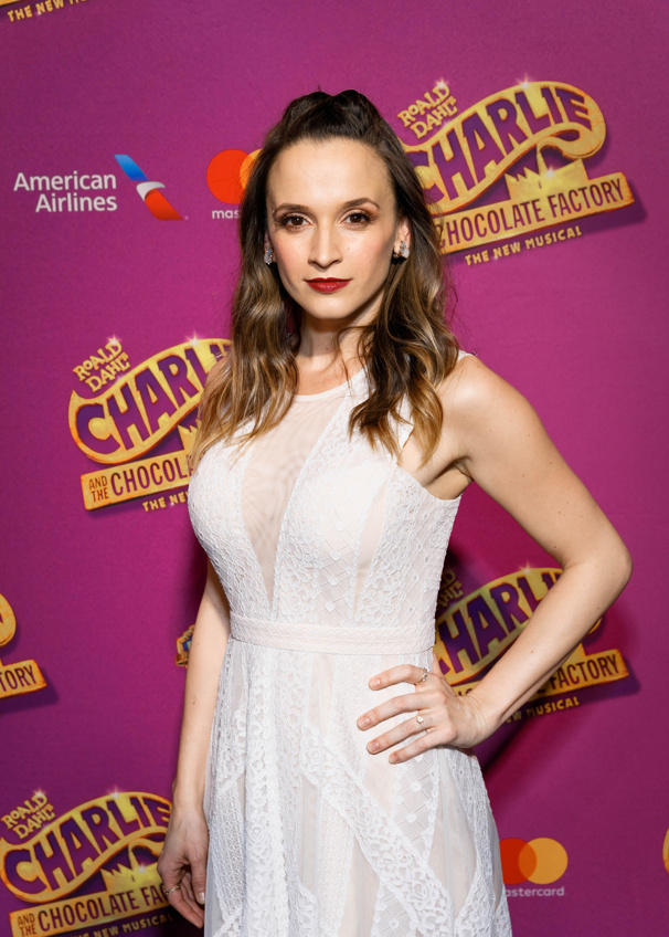 Emily Padgett at opening night of Charlie and the Chocolate Factory