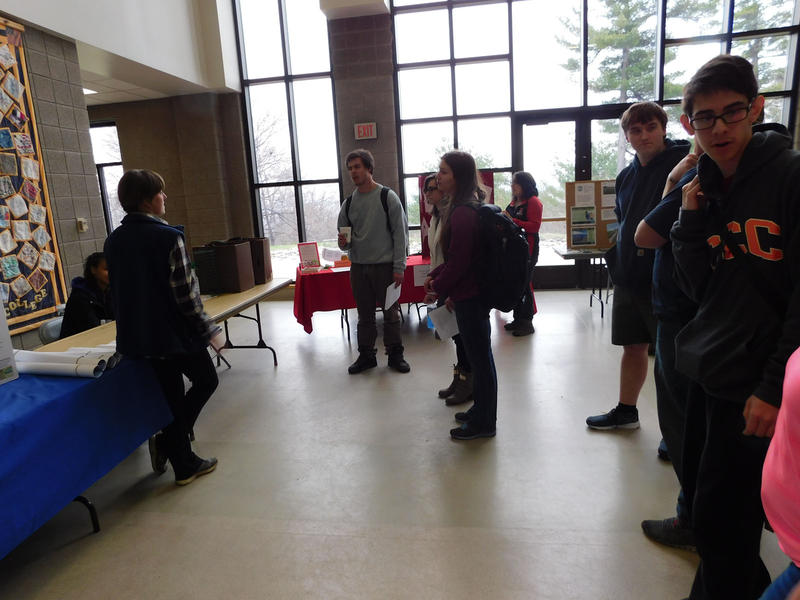 Students attend environmental trade fair at Clinton Community College