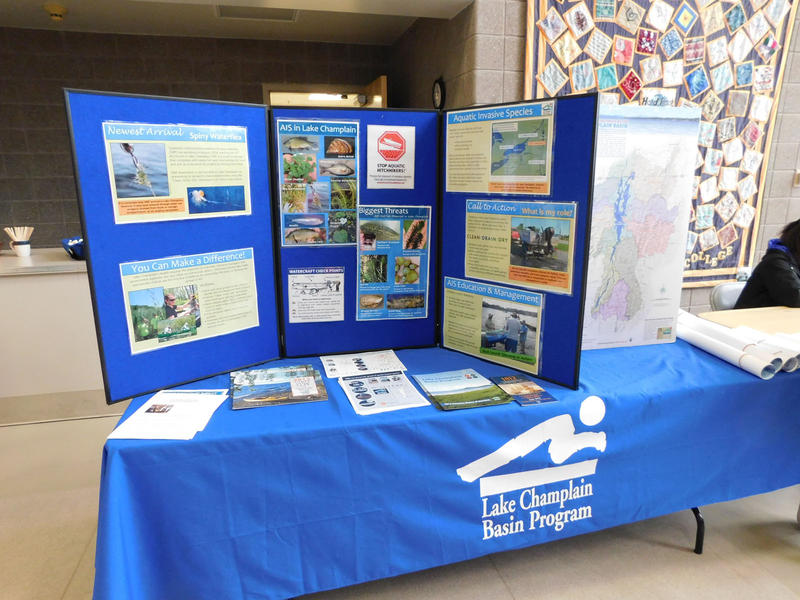 Booth at Clinton Community College environmental trade fair
