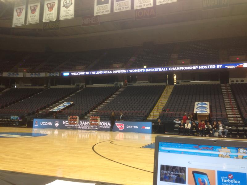 The Times Union Center hosted the women's NCAA tourney in 2015.
