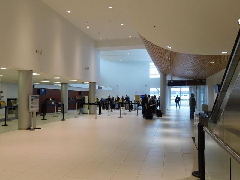 Plattsburgh International Airport new ticketing area