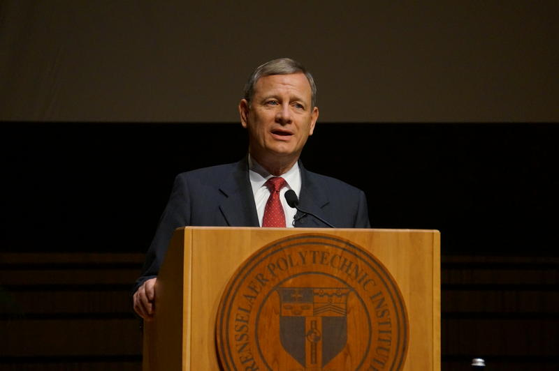 Chief Justice John Roberts spoke at RPI on Tuesday afternoon.