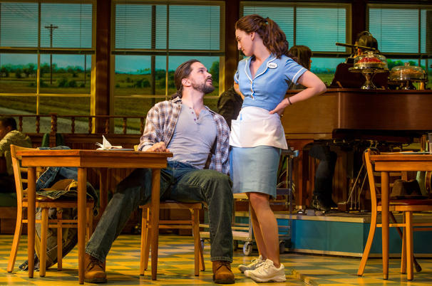 Will Swenson and Sara Bareilles in 'Waitress' on Broadway