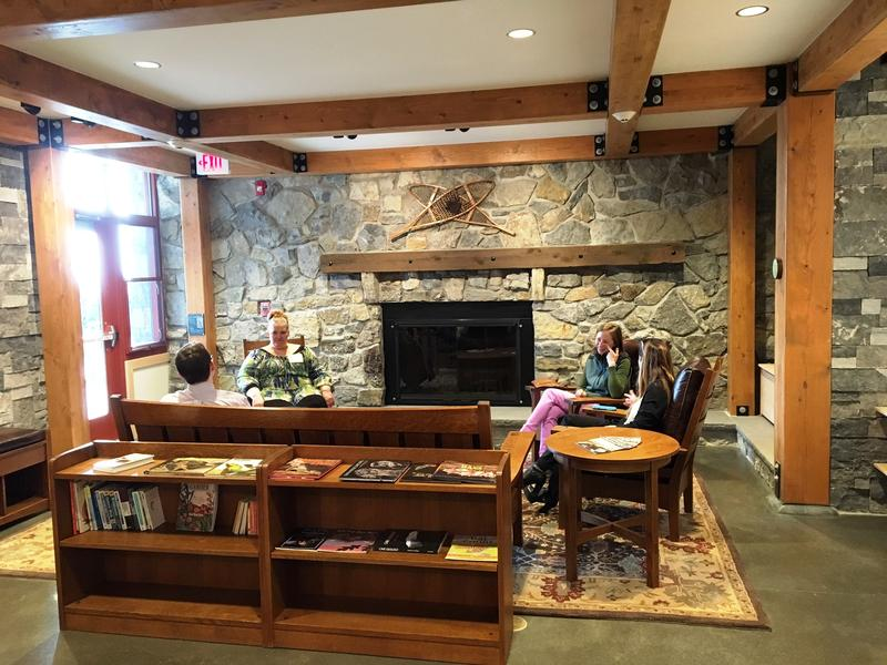 Inside the Thacher Park Visitors Center