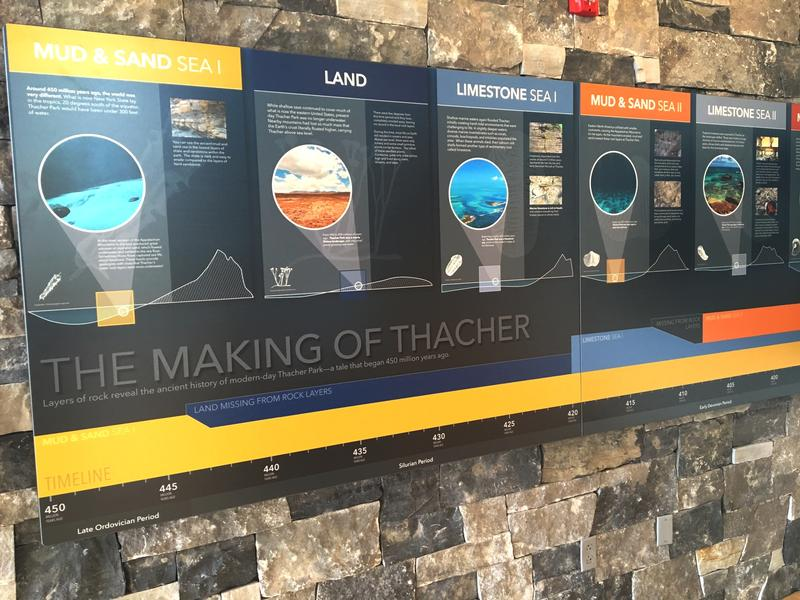 Thacher Park Center features exhibits about the Helderbergs' geologic, natural and cultural history.