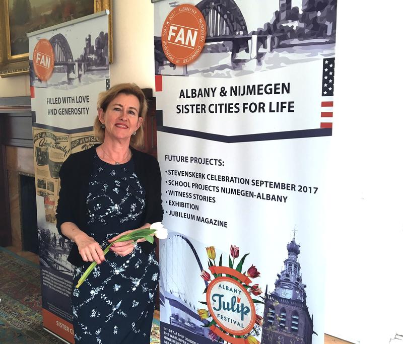 "Anja Adriaans, founder of ""FAN"" – the Friendship Albany-Nijmegen Association."