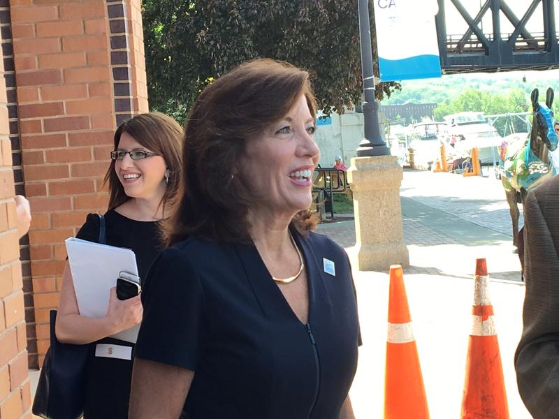 Lt. Gov. Kathy Hochul in Waterford at the Erie Canal, May 2017