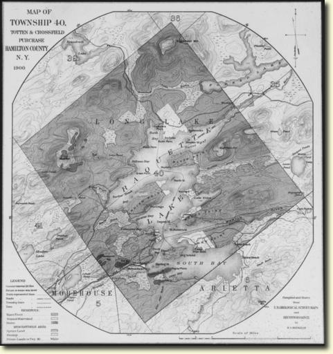 Township 40 map circa 1900