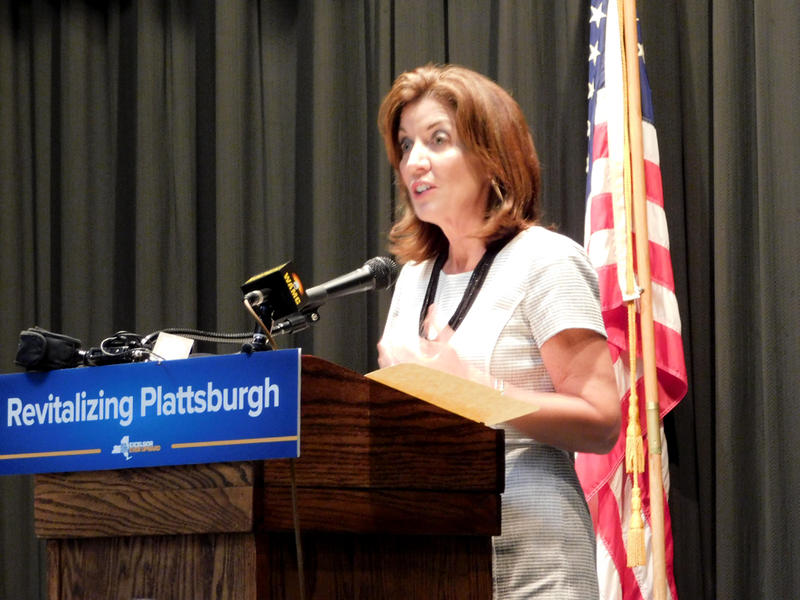 Lieutenant Governor Kathy Hochul in Plattsburgh 5-25-17