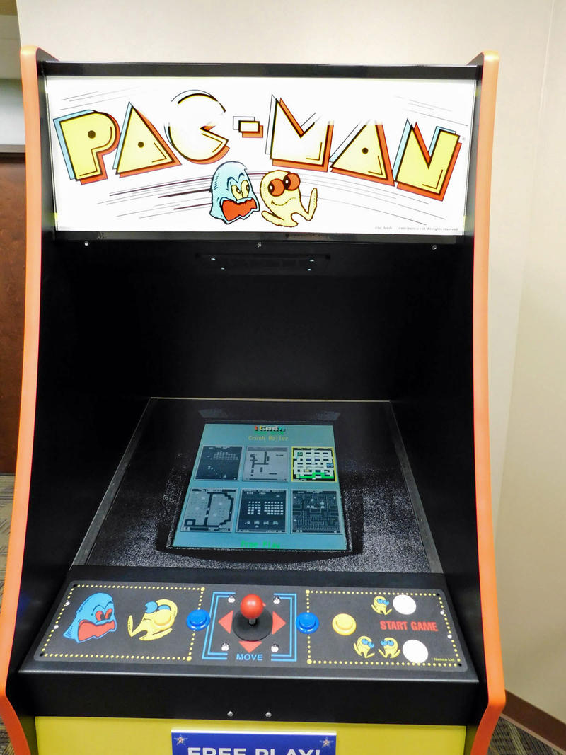 The free Pac Man machine in the results waiting room