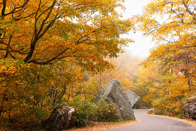 Smuggler's Notch in autumn