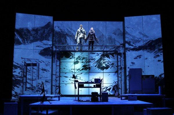 Wade McCollum and Valerie Vigoda in Ernest Shackleton Loves Me