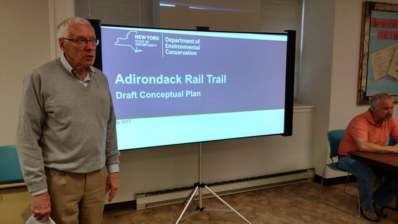 Lake Placid Mayor Craig Randall begins Rail Trail meeting
