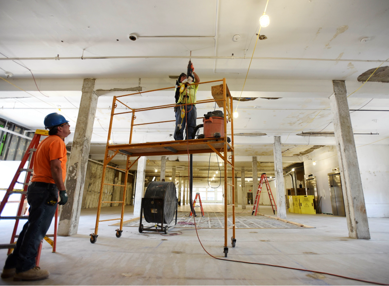 Construction is underway on the Adeline Graham Theatrical Training and Innovation Center in Downtown Schenectady.
