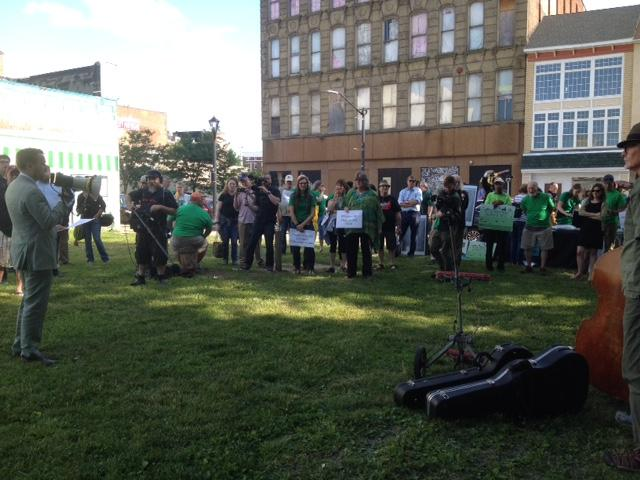 Rally at Mural Square before EPA meeting