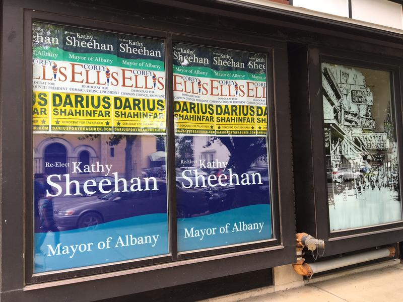 Sheehan Campaign HQ storefront along Albany's Madison Ave.