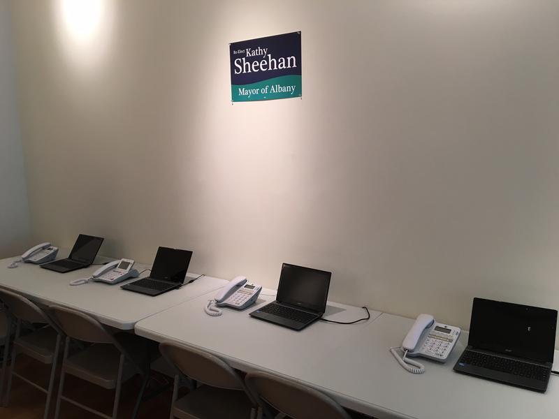 Phone bank at Sheehan Campaign HQ