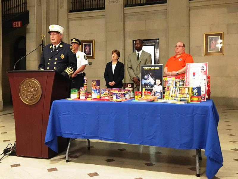 Mayor Kathy M. Sheehan with City of Albany officials held a press conference reminding residents about the legality of fireworks in Albany.