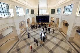 The renovated Union Station concourse with the original terrazzo floor